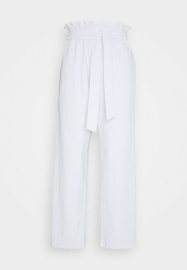 PAPER BAG PANT - Broek - white
