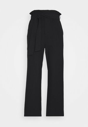 PAPER BAG PANT - Stoffhose - black