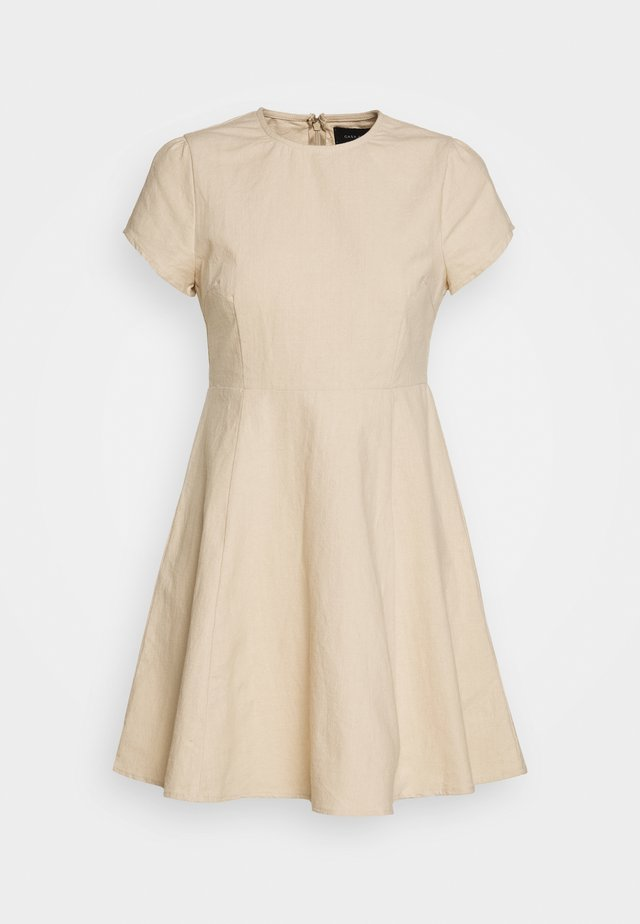 PUFF SLEEVE DRESS - Korte jurk - natural