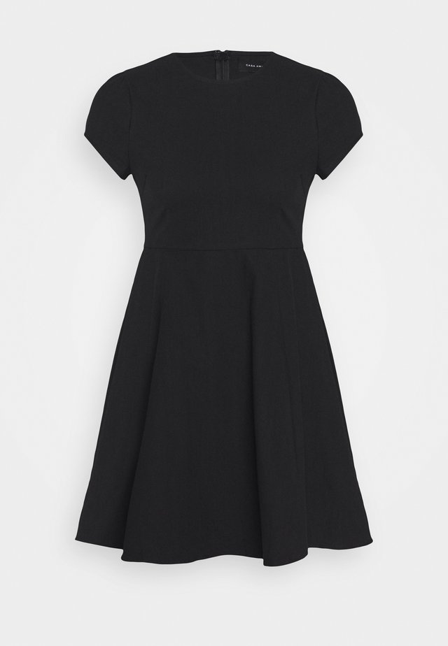 PUFF SLEEVE DRESS - Korte jurk - black
