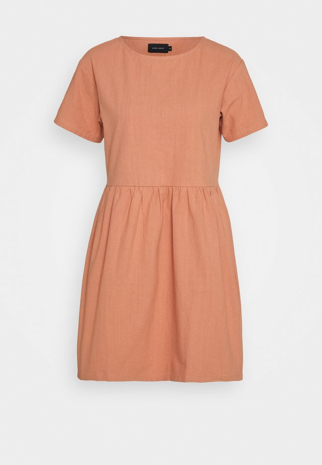 BOX DRESS - Day dress - salmon