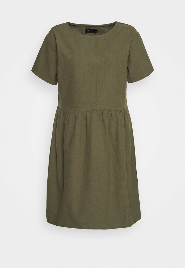 BOX DRESS - Korte jurk - olive
