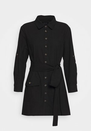 BELTED DRESS - Skjortklänning - black