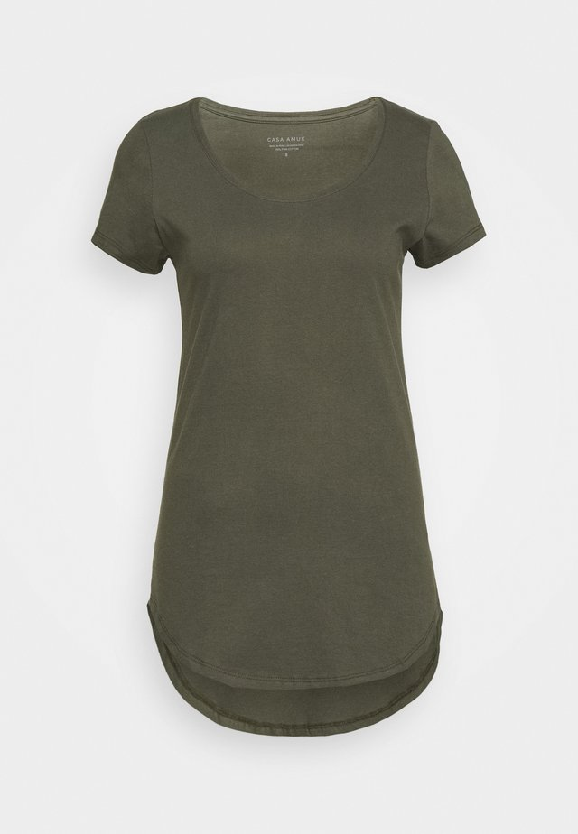 TEE - Basic T-shirt - khaki