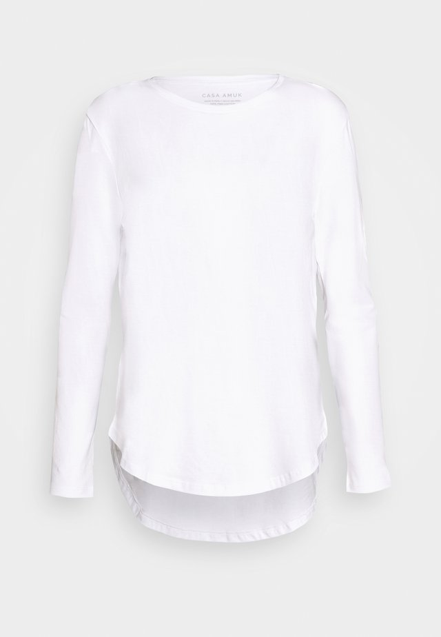 LONG SLEEVE SADDLE HEM - Longsleeve - white