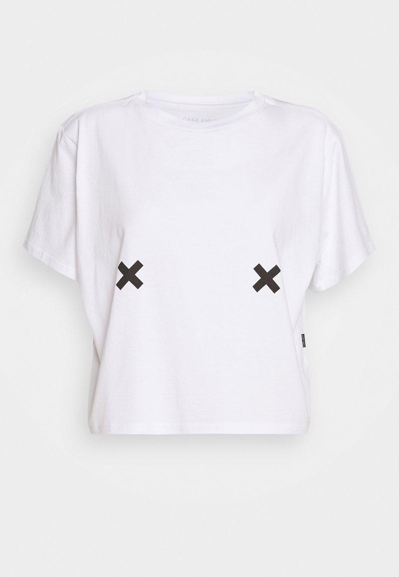 Casa Amuk - FREE THE NIPPLE TEE - T-shirt med print - white