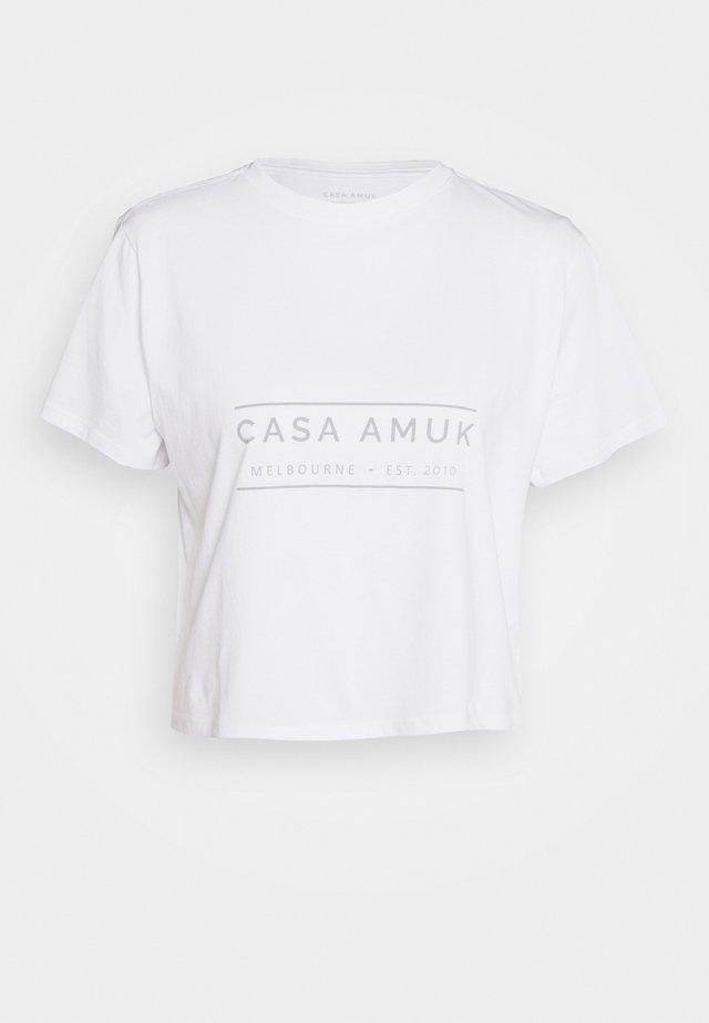HERITAGE LOGO TEE - T-shirts med print - white