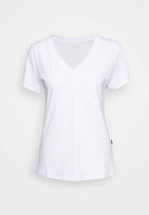 V NECK TEE - Jednoduché triko - white