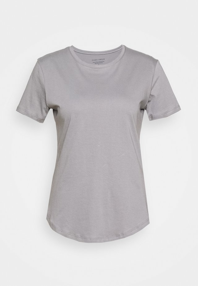 SADDLE HEM - Basic T-shirt - grey