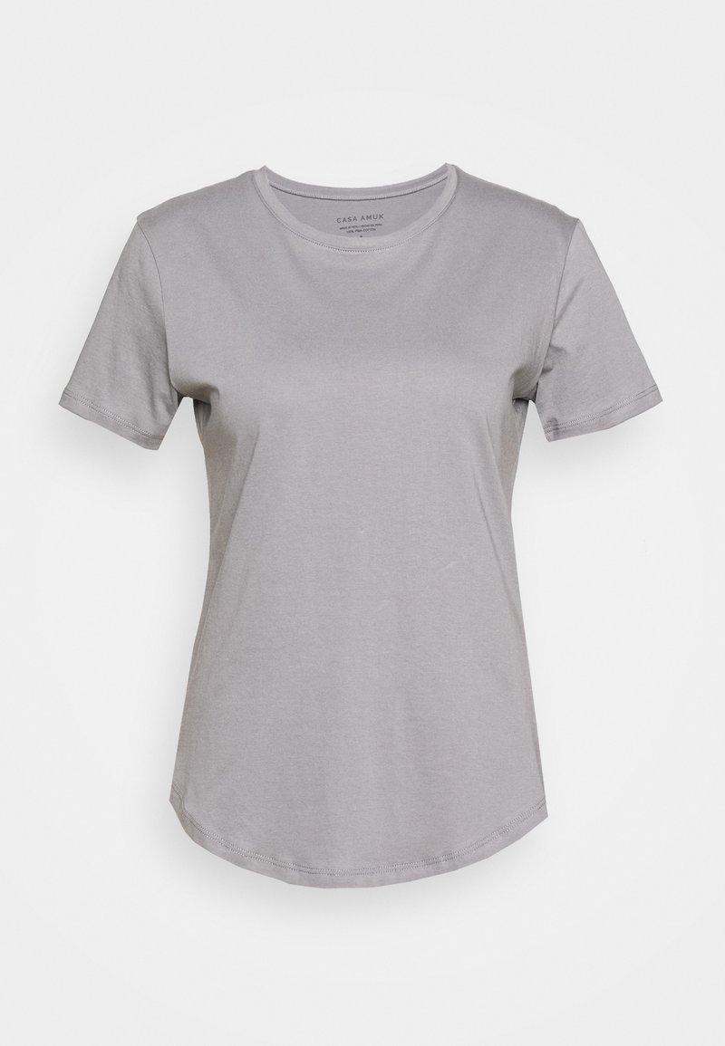 Casa Amuk - SADDLE HEM - T-shirt - bas - grey