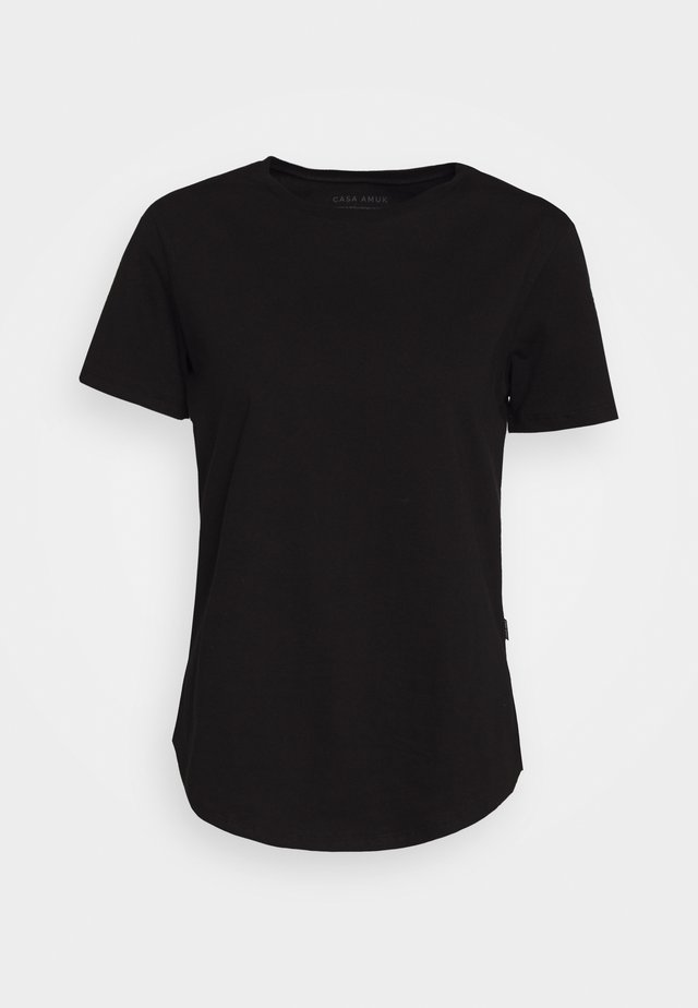 SADDLE HEM - Basic T-shirt - black