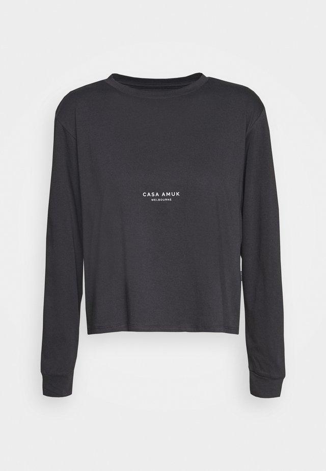LOGO VINTAGE TEE - Langærmede T-shirts - asphalt