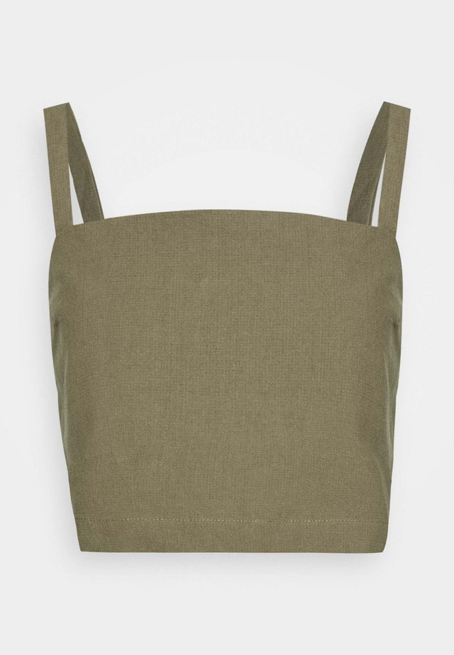 SQUARE NECK CAMI - Blouse - olive