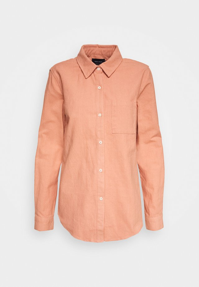 Button-down blouse - salmon