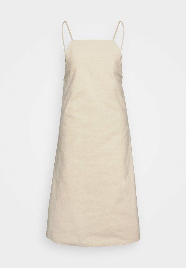 A-LINE MIDI DRESS - Denní šaty - natural