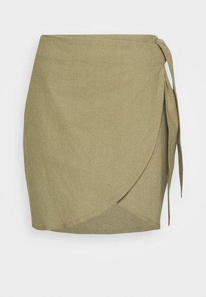 WRAP SKIRT - Mini skirt - khaki