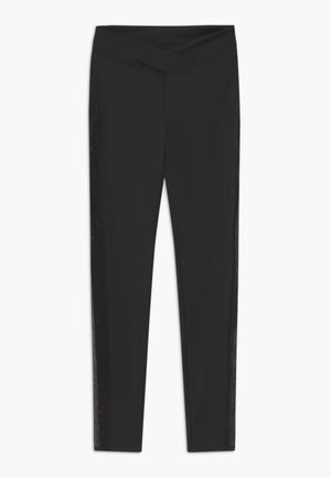 CROSS FRONT LEGGING - Collants - black