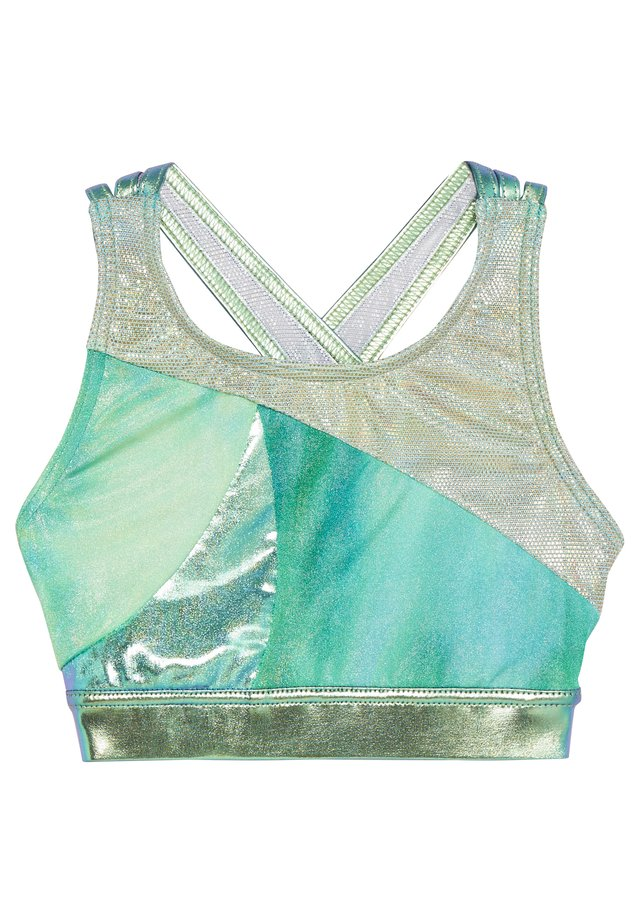 GIRLS GYMNASTICS MULTI STRAP - Topp - green marble multi