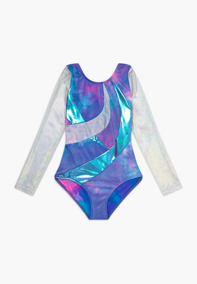 GIRLS' GYMNASTICS LONG SLEEVE LEOTARD - turndrakt - pink/multi
