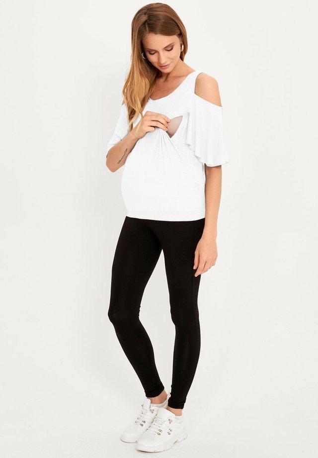 MATERNITY & NURSING - T-shirt print - white
