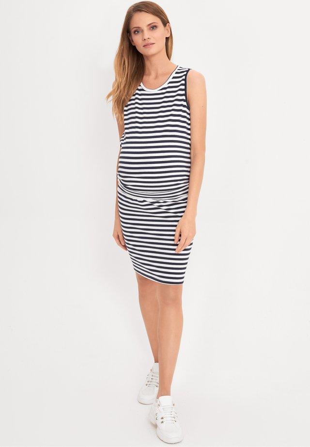 Korte jurk - striped
