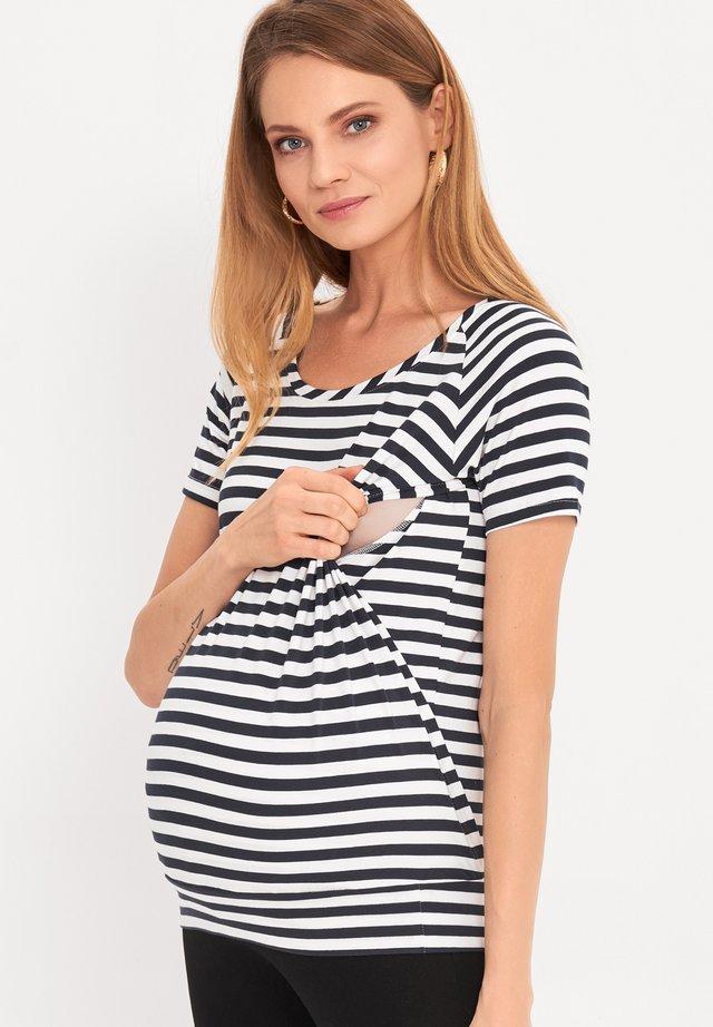 BASIC - T-shirt basic - striped
