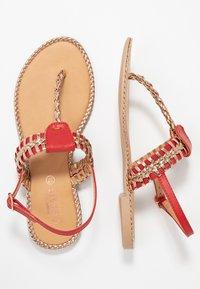 Cassis côte d'azur - INUL - T-bar sandals - rouge - 2