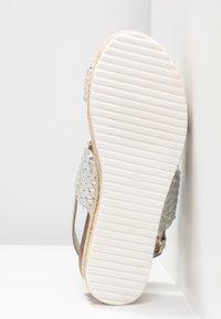 Cassis côte d'azur - JANELLE - Korkeakorkoiset sandaalit - argent - 6