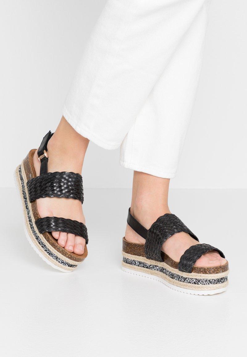Cassis côte d'azur - JANELLE - Platform sandals - noir