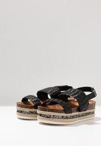 Cassis côte d'azur - JANELLE - Platform sandals - noir - 4