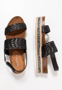 Cassis côte d'azur - JANELLE - Platform sandals - noir - 3