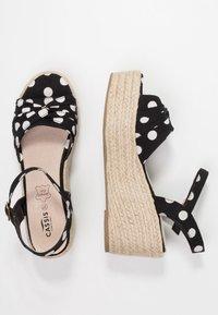 Cassis côte d'azur - JULIUS - Platform sandals - noir - 3