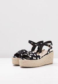 Cassis côte d'azur - JULIUS - Platform sandals - noir - 4