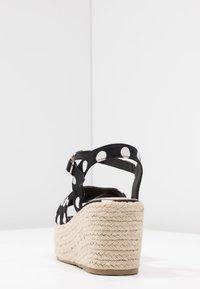 Cassis côte d'azur - JULIUS - Platform sandals - noir - 5