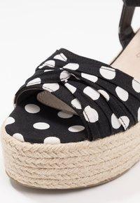 Cassis côte d'azur - JULIUS - Platform sandals - noir - 2