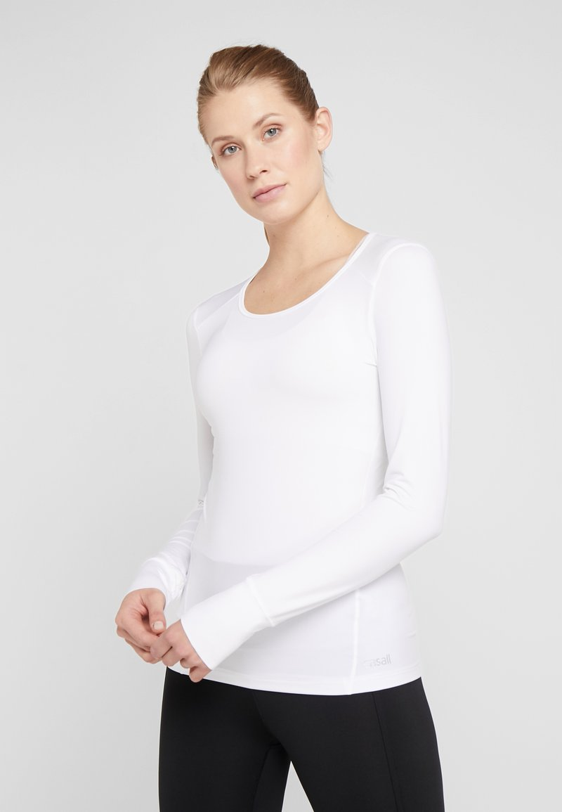 Casall - ESSENTIAL LONG SLEEVE - Langærmede T-shirts - white