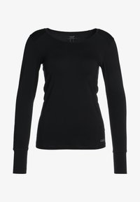 Casall - ESSENTIAL LONG SLEEVE - T-shirt à manches longues - black - 4