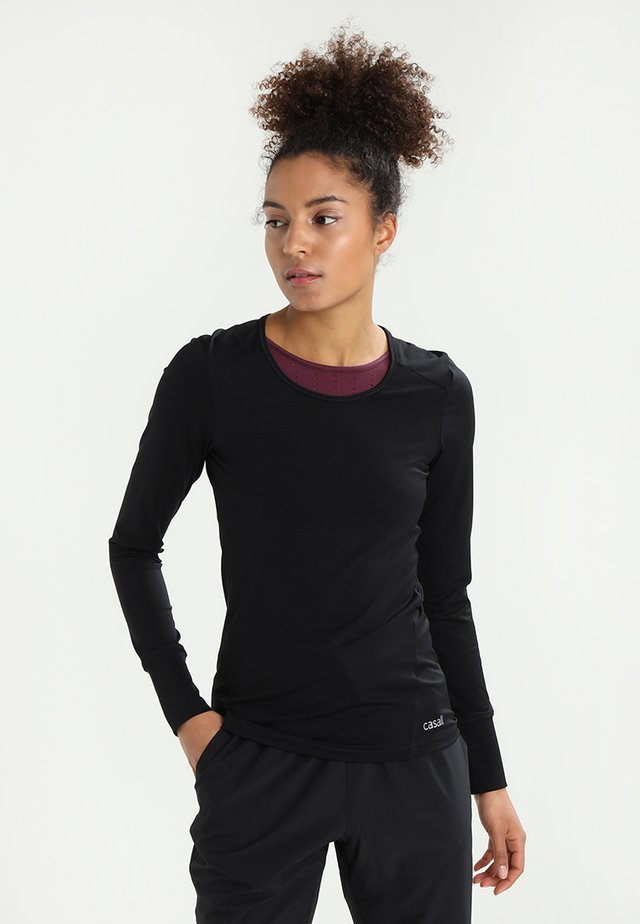 ESSENTIAL LONG SLEEVE - Long sleeved top - black