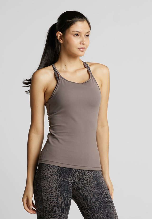 LUX STRAP RACERBACK - Top - grounded brown