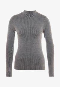 Casall - LONG SLEEVE - Langærmede T-shirts - black/grey - 4