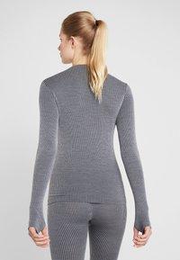 Casall - LONG SLEEVE - Langærmede T-shirts - black/grey - 2