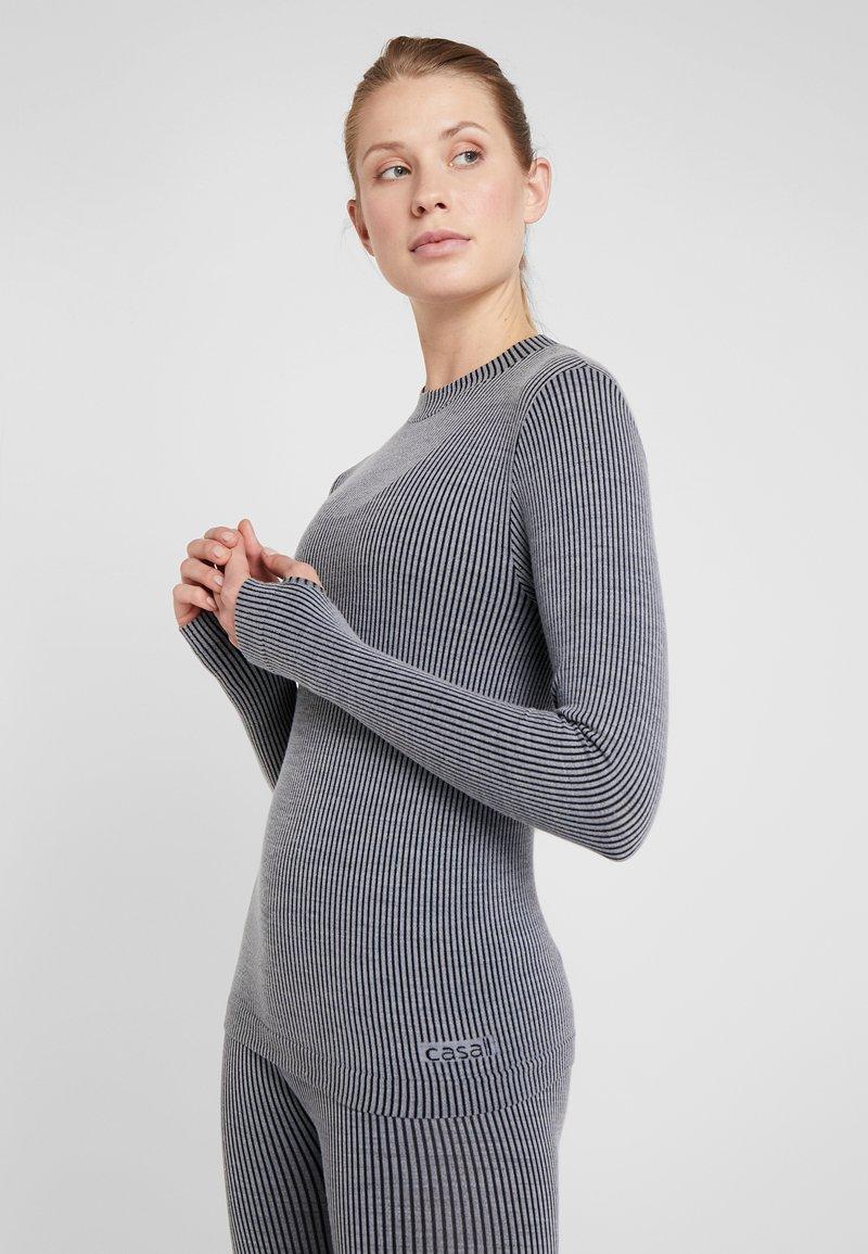 Casall - LONG SLEEVE - Langærmede T-shirts - black/grey