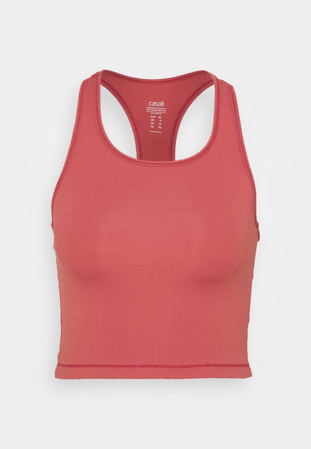 BOLD CROP TANK - Linne - comfort pink