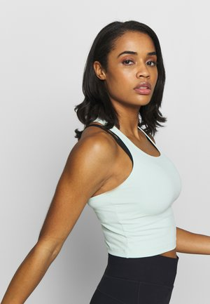 BOLD CROP TANK - Topper - misty green