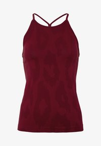 Casall - SEAMLESS LEO STRAP TANK - Top - moving red - 3