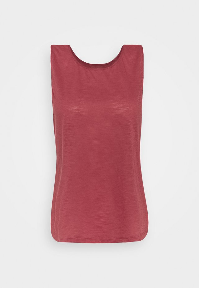 TEXTURE TANK - Linne - comfort pink