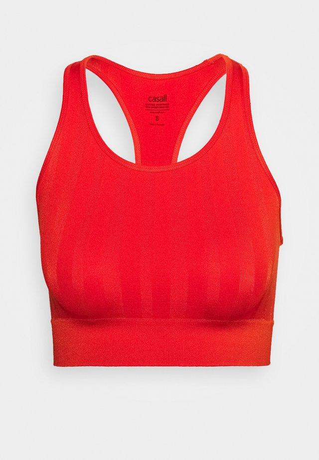 SHINY MATTE SEAMLESS SPORTS - Top - intense orange
