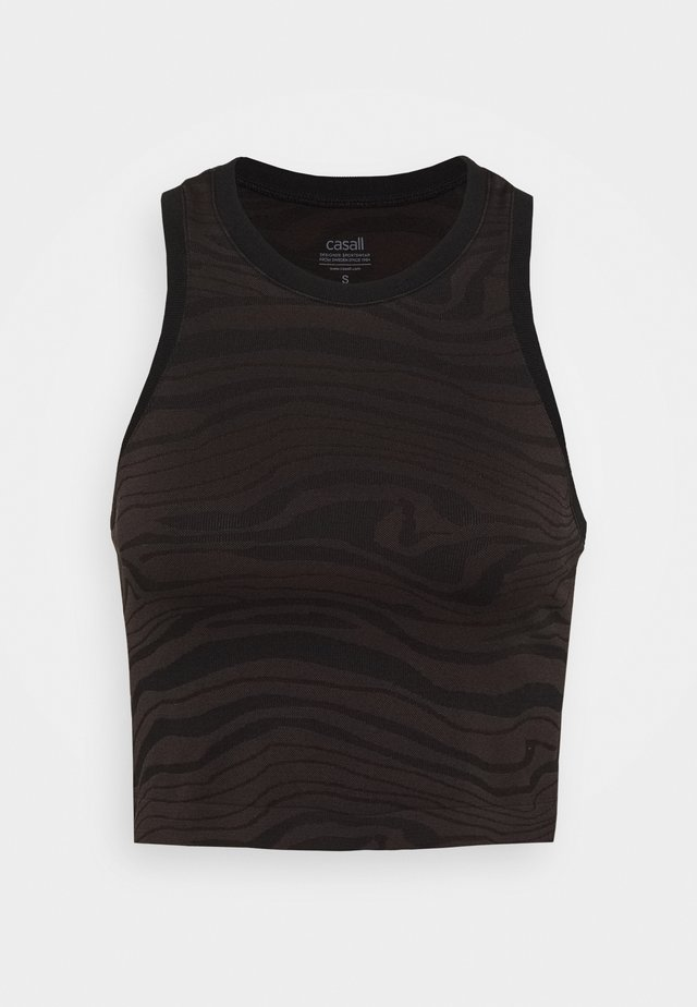 SEAMLESS MELTED  - Top - melted brown