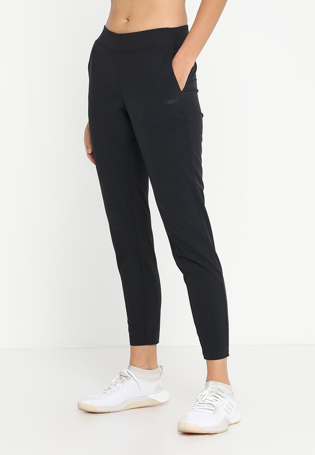 CASALL SLIM WOVEN PANT - Kalhoty - black
