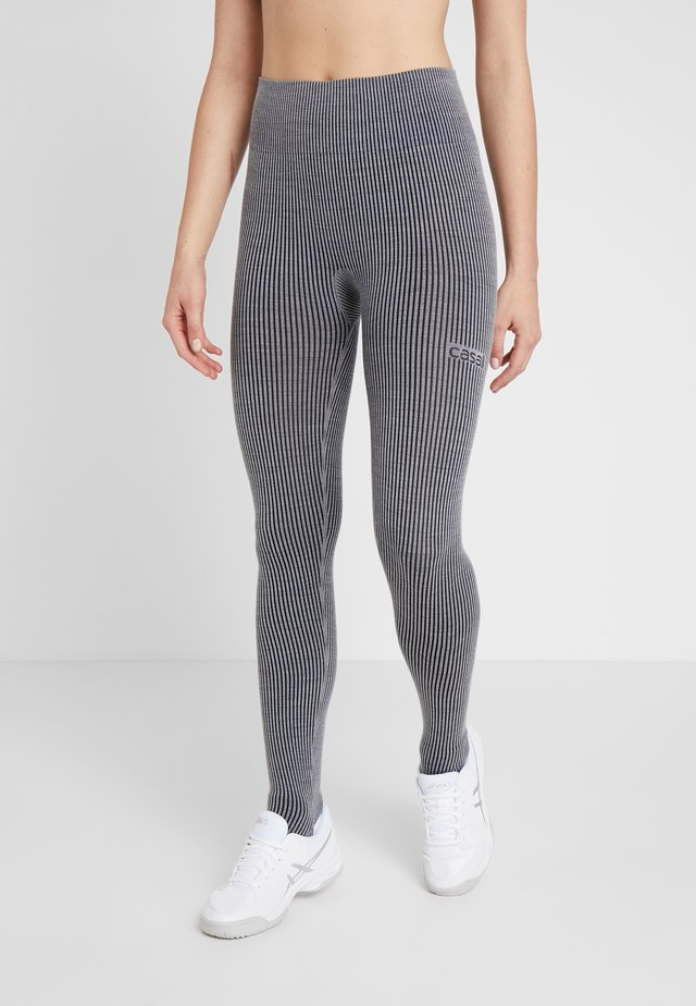 Leggings - black grey